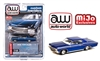 ( Preorder) Auto World 1:64 Mijo Exclusive Custom Lowriders 1970 Chevy Impala SS Hard Top Blue Limited Edition