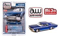 Auto World 1:64 Mijo Exclusive Custom Lowriders 1970 Chevy Impala SS Hard Top Blue Limited Edition