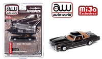 Mijo Exclusive Lowriders 1975 Cadillac Eldorado Black Auto World 1:64 Limited Edition