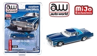 Mijo Exclusive Lowriders 1975 Cadillac Eldorado Blue Limited Edition Auto World 1:64 Limited Edition