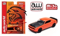 Auto World 1:64 Mijo Exclusive 2019 Dodge Challenger SRT Hellcat Orange Limited 3,000 pcs