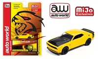 Auto World 1:64 Mijo Exclusive 2019 Dodge Challenger SRT Hellcat Yellow Limited 3,000 pcs
