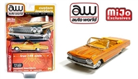 MiJo Exclusives Lowriders 1962 Chevy Impala SS Convertible Yellow Auto World 1:64 Limited Edition