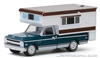 1969 Chevrolet C10 Cheyenne with Large Camper GREENLIGHT HOBBY EXCLUSIVE