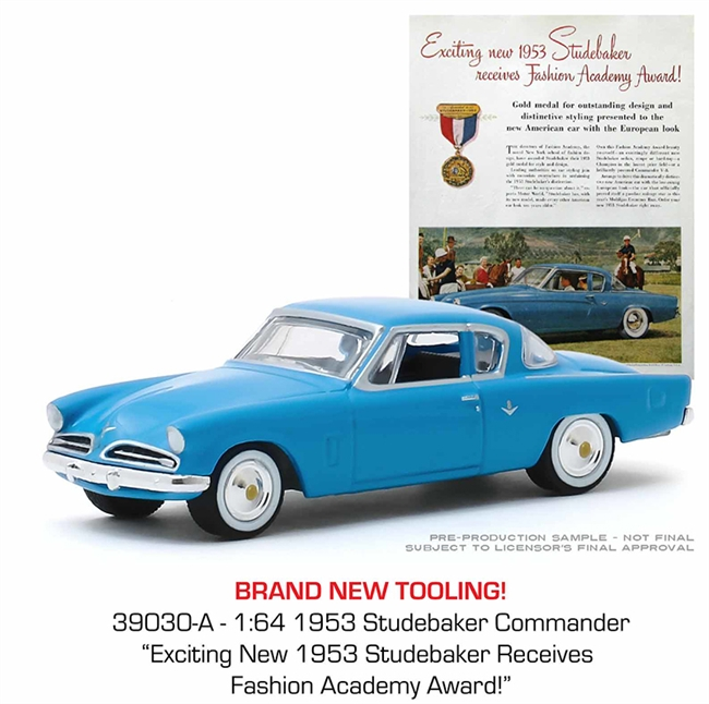 "1953 Studebaker Commander - ""Exciting New 1953 Studebaker Receives Fashion Academy Award!"""