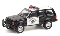 California Highway Patrol - 1993 Jeep Cherokee Hot Pursuit Series 38  GREENLIGHT