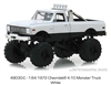 1972 Chevrolet K-10 Monster Truck in White - KINGS OF CRUNCH SERIES 3