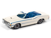 1968 Ford Torino Convertible in Wimbledon White JOHNNY LIGHTNING JLCG021 B