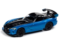2008 Dodge Viper SRT10 in Bright Blue Metallic - 30th Anniversary JOHNNY LIGHTNING JLCG021 B