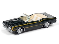 1968 Ford Torino Convertible in Highland Green JOHNNY LIGHTNING JLCG021 B