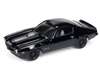 JOHNNY LIGHTNING 1973 Pontiac Firebird in Gloss Black and Dark Silver Stripe -Blacked Out