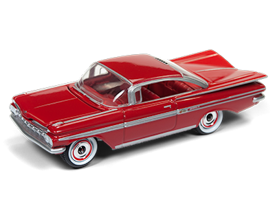 JOHNNY LIGHTNING 1959 CHEVY IMPALA IN ROMAN RED