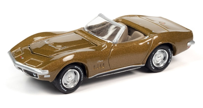 1969 Chevrolet Corvette ZL1 in Riverside Gold Poly  Johnny Lightning Muscle Cars 2020 Release 3A