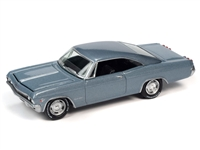 1965 Chevrolet Impala SS in Glacier Grey Poly Johnny Lightning Muscle Cars 2021 Release 1A