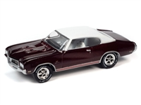 1970 Buick GS in Burgundy Mist Poly with Flat White Roof  Johnny Lightning Muscle Cars 2021 Release 1A