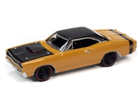 1969 1/2 Dodge Coronet A12 Super Bee in Butterscotch with Flat Black Roof  Johnny Lightning Muscle Cars 2021 Release 1A