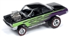 1962 Chevrolet Bel Air Bubbletop in Metallic Purple & Black with Green Flames - Zingers JOHNNY LIGHTNING STREET FREAKS