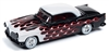 1955 Chrysler 300C in Black with White and Red Flames - Black with Flames JOHNNY LIGHTNING STREET FREAKS