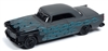 1955 Chrysler 300C in Primer Gray with Black & Teal Flames - Black with Flames JOHNNY LIGHTNING STREET FREAKS