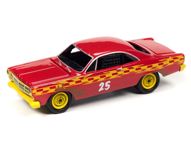 1967 Ford Fairlane (Demolition Derby) in Gloss Red JOHNNY LIGHTNING
