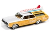 1964 Oldsmobile Vista Cruiser (Surf Rods) in White and Pearl Yellow with  with Wood Paneling JOHNNY LIGHTNING