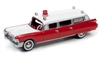 1959 Cadillac Ambulance in Red and White  JOHNNY LIGHTNING HOBBY EXCLUSIVE