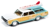 1964 Oldsmobile Vista Cruiser Surf Rod in White Seafoam Green with Wood Paneling JOHNNY LIGHTNING HOBBY EXCLUSIVE