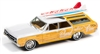 1964 Oldsmobile Vista Cruiser Surf Rod in White and Pearl Yellow with Wood Paneling JOHNNY LIGHTNING HOBBY EXCLUSIVE