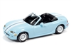 1999 Mazda Miata in Light Blue with White Stripes (Import Heat) JOHNNY LIGHTNING HOBBY EXCLUSIVE