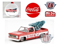 Coca-Cola Ornament - 1973 Chevrolet Fleetline with tree - Two-tone Candy Red/White - Limited Edition M2 Machines 1:64 MiJo Exclusives