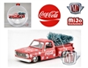 Coca-Cola Ornament - 1974 Chevrolet Stepside with tree - Red - Limited Edition M2 Machines 1:64 MiJo Exclusives