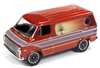 RACING CHAMPIONS1975 Chevrolet Van in Tangerine with Sunset Graphics RELEASE 3B