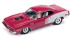 RACING CHAMPIONS 1971 Plymouth Barracuda in Moulin Rouge RELEASE 3B