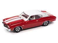 RACING CHAMPIONS	1970 Chevelle SS 396 (Cranberry Red w/Gloss White Stripes & Flat White Vinyl Roof) RC012
