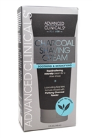 Advanced Clinicals for Men CHARCOAL SHAVING CREAM, Black Tea Scent,  5 fl oz