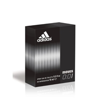 Adidas Moves 0:01 Eau de Toilette Spray .5 Oz