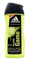 adidas Pure Game 2 in 1 Guaiac Wood Relaxing Hair & Body Shower Gel 8.4 Fl Oz.