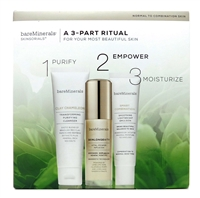 bareMinerals Skinsorials: Clay Chameleon Transforming Purifying Cleanser 1.7 Oz., Skinlongevity Vital Power Infusion 1 Fl Oz., Smart Combination Smoothing Lightweight Emulsion 1 Fl Oz.