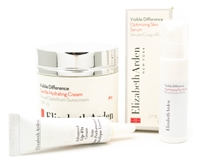 Elizabeth Arden 3 Piece Skin Care Set; Visible Difference Gentle Hydrating Cream SPF25   1.7oz, Visible Difference Optimizing Skin Serum .17 fl oz, Advanced Lip Fix Cream  .17 fl oz