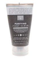 Earth Therapeutics PURIFYING FOOT SCRUB with Medicinal Bamboo Charcoal  5 fl oz