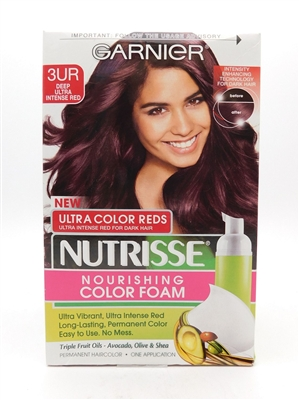 Garnier Nutrisse Nourishing Color Foam Ultra Color Reds 3UR Deep Ultra Intense Red One Application