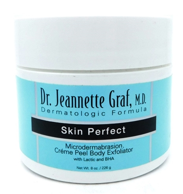 Dr. Jeannette Graf Skin Perfect Microdermabrasion Creme Peel Body Exfoliator 8 Oz.