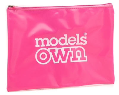 "Models Own Cosmetic / Travel Bag, Pink Vinyl  aprox 8""x5"""