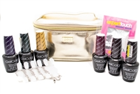 ​OPI Gwen Stefani Celebrate Color Soak Off Gel Laquer Set; Case, Nail Wraps, Blank Palette. Gel Laquers include  Rollin' in Cashmere, Love is Hot and Coal, I Carol About You, Kiss Me - or Elf!, Sleigh Parking Only, Christmas Gone Plaid  .5 fl oz each