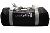 "Playboy press to play  SMALL DUFFLE, 100% Polyester, aprox 17""x7"" diameter"