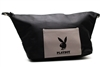 "PPlayboy TOILETRY BAG, aprox 12""x7"", 100% Polyester, Zippered Closure,  3.5""x5"" external pouch"