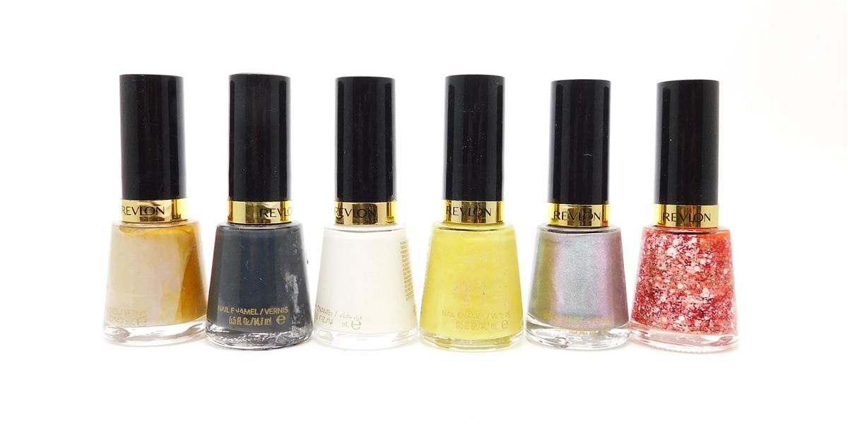 Revlon Nail Enamel 6 Color Set: Graceful, Iconic, Ethereal, Zealous ...