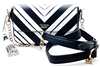 Victoria's Secret Black and White Over Shoulder Purse with Snap Closure