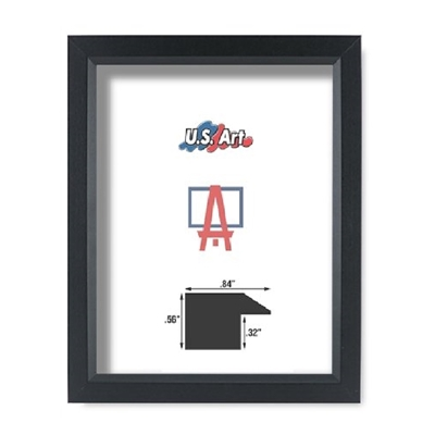 Black Frame - Solid Poplar Wood (.84 Inch)