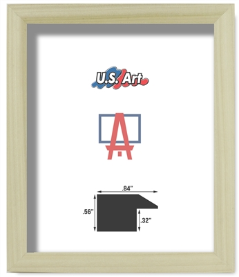 Natural Unfinished Oak Frame - Solid Poplar Wood (.84 Inch)